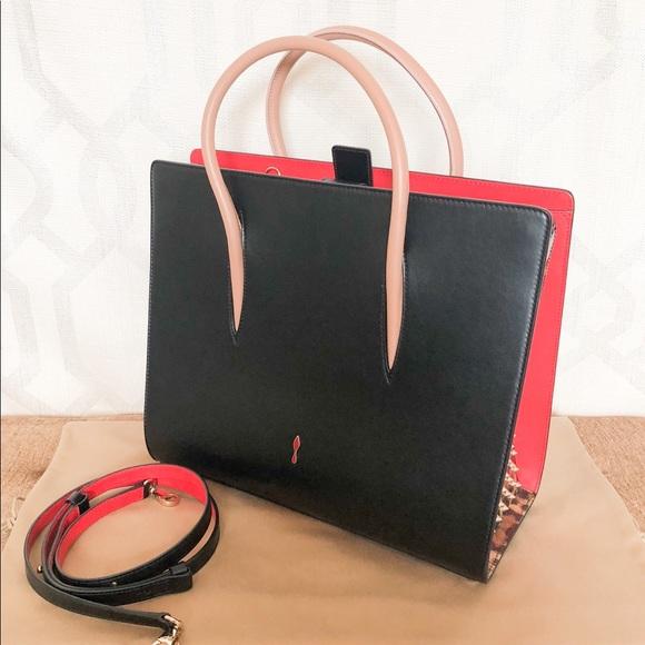 57c92853727 Christian Louboutin Large Paloma Black Studded Bag